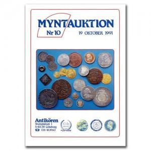 Antikören Myntauktion 10. (761 utrop, 114 sidor). - Pris 100 kr + porto.