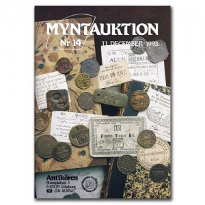 Antikören Myntauktion 14. (702 utrop, 72 sidor). - Pris 150 kr + porto.