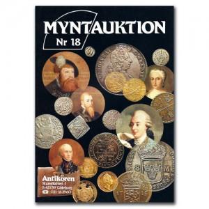 Antikören Myntauktion 18. (848 utrop, 68 sidor). - Pris 100 kr + porto.