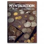 Antikören Myntauktion 19. (1.150 utrop, 76 sidor). - Pris 100 kr + porto.