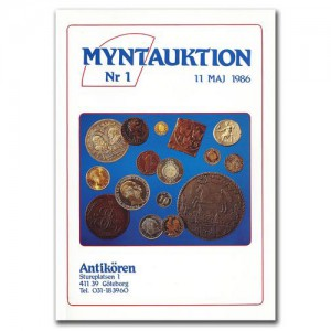Antikören Myntauktion 1. (956 utrop, 64 sidor). - Pris 100 kr + porto.