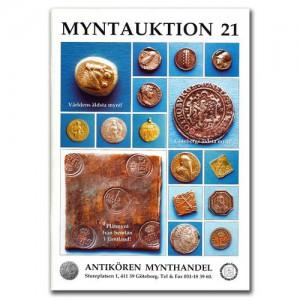 Antikören Myntauktion 21. (1.154 utrop, 108 sidor). - Pris 100 kr + porto.
