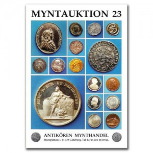 Antikören Myntauktion 23. (758 utrop, 76 sidor). - Pris 100 kr + porto.