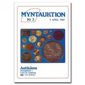 Antikören Myntauktion 3. (1.154 utrop, 68 sidor). - Pris 75 kr + porto.