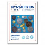 Antikören Myntauktion 8. (1.086 utrop, 88 sidor). - Pris 100 kr + porto.