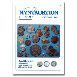 Antikören Myntauktion 9. (1.180 utrop, 134 sidor). - Pris 100 kr + porto.